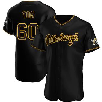 Men's Ka'ai Tom Pittsburgh Black Authentic Alternate Team Baseball Jersey (Unsigned No Brands/Logos)