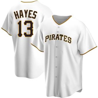 Men's Ke'Bryan Hayes Pittsburgh White Replica Home Baseball Jersey (Unsigned No Brands/Logos)