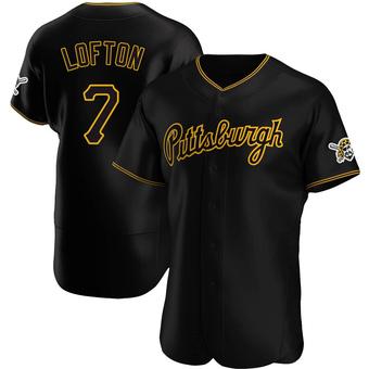 Men's Kenny Lofton Pittsburgh Black Authentic Alternate Team Baseball Jersey (Unsigned No Brands/Logos)