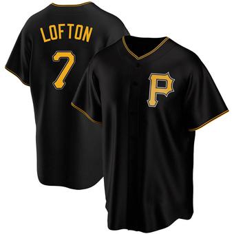 Men's Kenny Lofton Pittsburgh Black Replica Alternate Baseball Jersey (Unsigned No Brands/Logos)