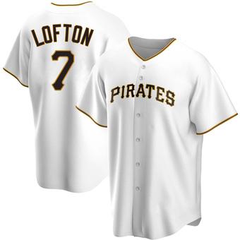 Men's Kenny Lofton Pittsburgh White Replica Home Baseball Jersey (Unsigned No Brands/Logos)