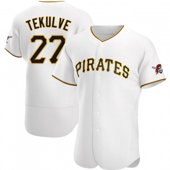 Men's Kent Tekulve Pittsburgh White Authentic Home Baseball Jersey (Unsigned No Brands/Logos)