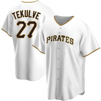 Men's Kent Tekulve Pittsburgh White Replica Home Baseball Jersey (Unsigned No Brands/Logos)