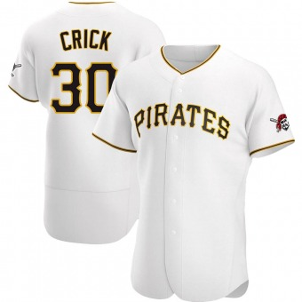 Men's Kyle Crick Pittsburgh White Authentic Home Baseball Jersey (Unsigned No Brands/Logos)