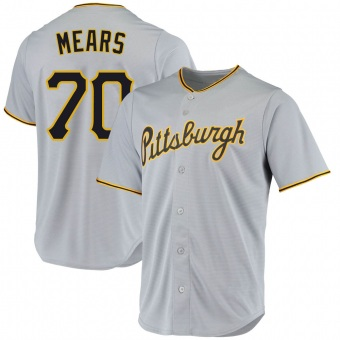Men's Nick Mears Pittsburgh Gray Replica Road Baseball Jersey (Unsigned No Brands/Logos)