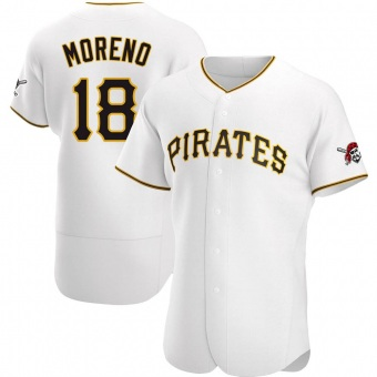 Men's Omar Moreno Pittsburgh White Authentic Home Baseball Jersey (Unsigned No Brands/Logos)
