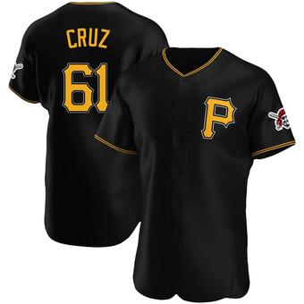 Men's Oneil Cruz Pittsburgh Black Authentic Alternate Baseball Jersey (Unsigned No Brands/Logos)