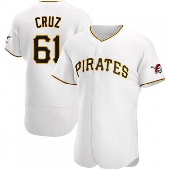 Men's Oneil Cruz Pittsburgh White Authentic Home Baseball Jersey (Unsigned No Brands/Logos)