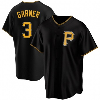 Men's Phil Garner Pittsburgh Black Replica Alternate Baseball Jersey (Unsigned No Brands/Logos)