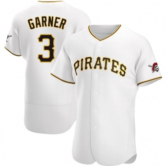 Men's Phil Garner Pittsburgh White Authentic Home Baseball Jersey (Unsigned No Brands/Logos)
