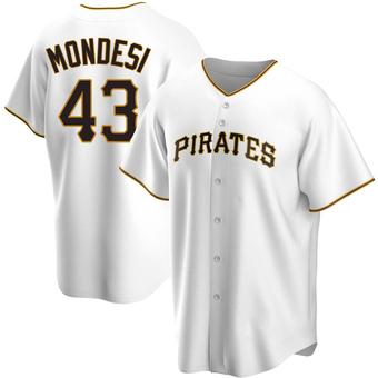 Men's Raul Mondesi Pittsburgh White Replica Home Baseball Jersey (Unsigned No Brands/Logos)