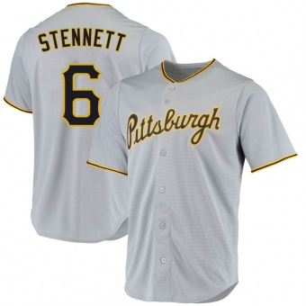 Men's Rennie Stennett Pittsburgh Gray Replica Road Baseball Jersey (Unsigned No Brands/Logos)