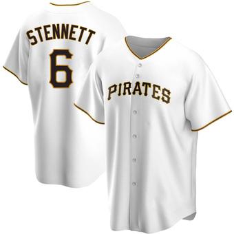 Men's Rennie Stennett Pittsburgh White Replica Home Baseball Jersey (Unsigned No Brands/Logos)