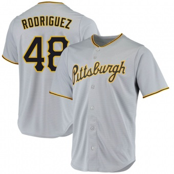 Men's Richard Rodriguez Pittsburgh Gray Replica Road Baseball Jersey (Unsigned No Brands/Logos)