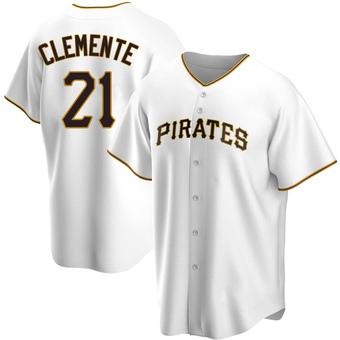 Men's Roberto Clemente Pittsburgh White Replica Home Baseball Jersey (Unsigned No Brands/Logos)