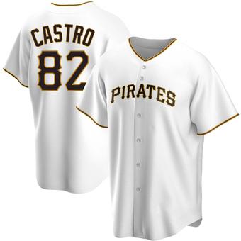 Men's Rodolfo Castro Pittsburgh White Replica Home Baseball Jersey (Unsigned No Brands/Logos)