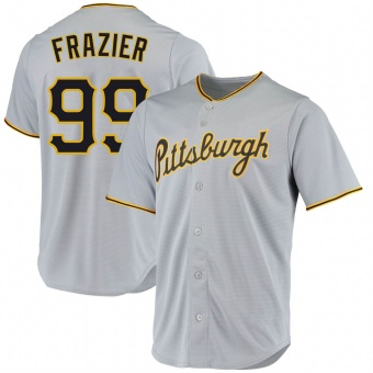 Men's Todd Frazier Pittsburgh Gray Replica Road Baseball Jersey (Unsigned No Brands/Logos)