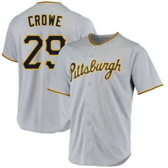 Men's Wil Crowe Pittsburgh Gray Replica Road Baseball Jersey (Unsigned No Brands/Logos)