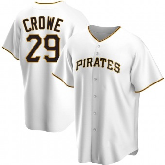Men's Wil Crowe Pittsburgh White Replica Home Baseball Jersey (Unsigned No Brands/Logos)