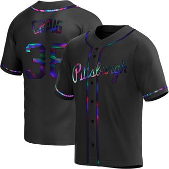 Men's Will Craig Pittsburgh Black Holographic Replica Alternate Baseball Jersey (Unsigned No Brands/Logos)