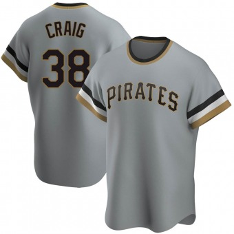 Men's Will Craig Pittsburgh Gray Replica Road Cooperstown Collection Baseball Jersey (Unsigned No Brands/Logos)