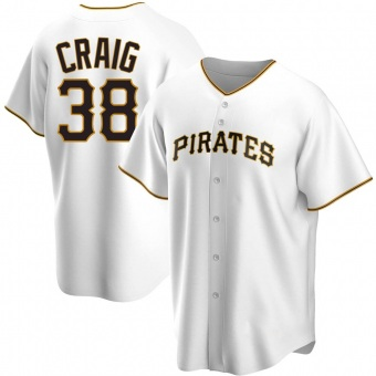 Men's Will Craig Pittsburgh White Replica Home Baseball Jersey (Unsigned No Brands/Logos)