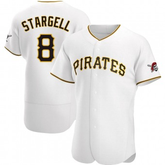 Men's Willie Stargell Pittsburgh White Authentic Home Baseball Jersey (Unsigned No Brands/Logos)
