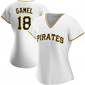 Women's Ben Gamel Pittsburgh White Game Home Authentic Baseball Jersey (Unsigned No Brands/Logos)