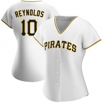 Women's Bryan Reynolds Pittsburgh White Authentic Home Baseball Jersey (Unsigned No Brands/Logos)
