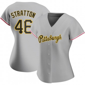 Women's Chris Stratton Pittsburgh Gray Authentic Road Baseball Jersey (Unsigned No Brands/Logos)