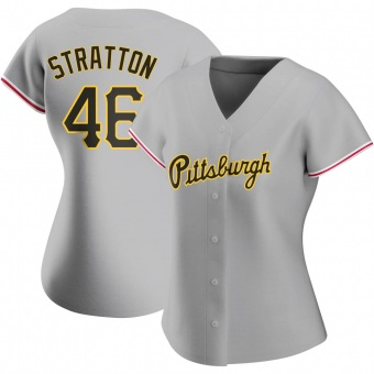 Women's Chris Stratton Pittsburgh Gray Replica Road Baseball Jersey (Unsigned No Brands/Logos)