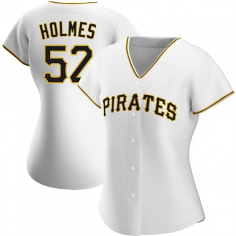 Women's Clay Holmes Pittsburgh White Authentic Home Baseball Jersey (Unsigned No Brands/Logos)