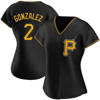 Women's Erik Gonzalez Pittsburgh Black Authentic Alternate Baseball Jersey (Unsigned No Brands/Logos)