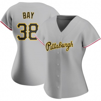 Women's Jason Bay Pittsburgh Gray Replica Road Baseball Jersey (Unsigned No Brands/Logos)