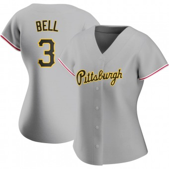 Women's Jay Bell Pittsburgh Gray Authentic Road Baseball Jersey (Unsigned No Brands/Logos)