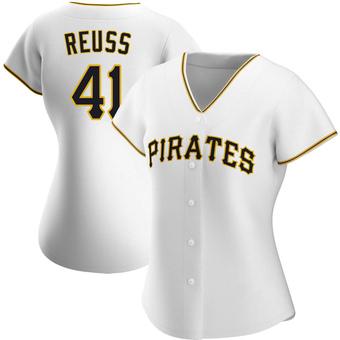 Women's Jerry Reuss Pittsburgh White Replica Home Baseball Jersey (Unsigned No Brands/Logos)