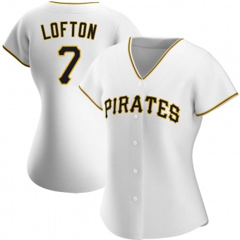 Women's Kenny Lofton Pittsburgh White Authentic Home Baseball Jersey (Unsigned No Brands/Logos)