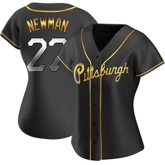 Women's Kevin Newman Pittsburgh Black Golden Replica Alternate Baseball Jersey (Unsigned No Brands/Logos)