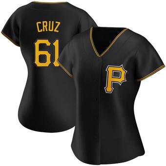 Women's Oneil Cruz Pittsburgh Black Replica Alternate Baseball Jersey (Unsigned No Brands/Logos)