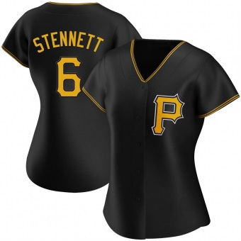 Women's Rennie Stennett Pittsburgh Black Authentic Alternate Baseball Jersey (Unsigned No Brands/Logos)