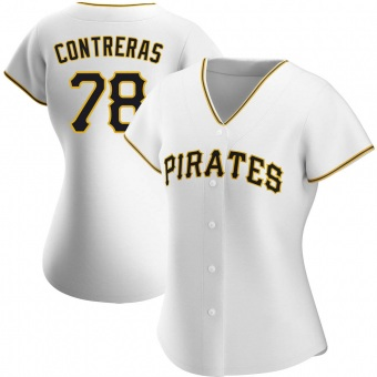 Women's Roansy Contreras Pittsburgh White Replica Home Baseball Jersey (Unsigned No Brands/Logos)