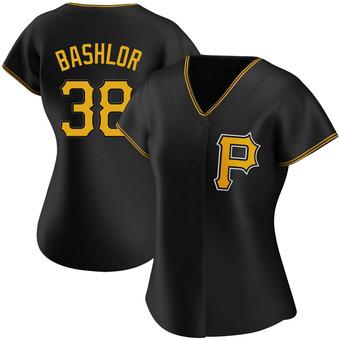 Women's Tyler Bashlor Pittsburgh Black Authentic Alternate Baseball Jersey (Unsigned No Brands/Logos)