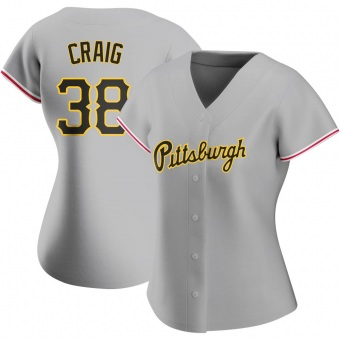 Women's Will Craig Pittsburgh Gray Authentic Road Baseball Jersey (Unsigned No Brands/Logos)