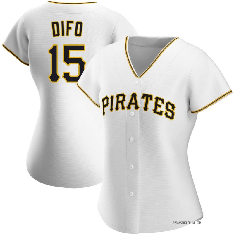 Women's Wilmer Difo Pittsburgh White Authentic Home Baseball Jersey (Unsigned No Brands/Logos)