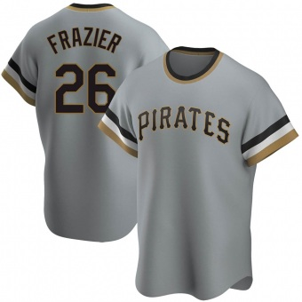 Youth Adam Frazier Pittsburgh Gray Replica Road Cooperstown Collection Baseball Jersey (Unsigned No Brands/Logos)