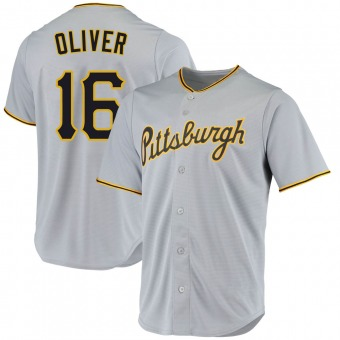 Youth Al Oliver Pittsburgh Gray Replica Road Baseball Jersey (Unsigned No Brands/Logos)