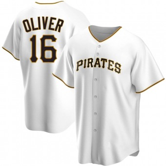 Youth Al Oliver Pittsburgh White Replica Home Baseball Jersey (Unsigned No Brands/Logos)
