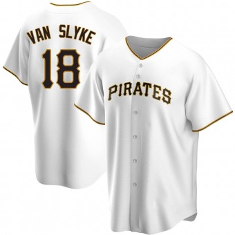 Youth Andy Van Slyke Pittsburgh White Replica Home Baseball Jersey (Unsigned No Brands/Logos)