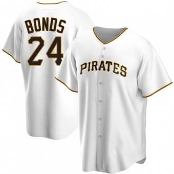 Youth Barry Bonds Pittsburgh White Replica Home Baseball Jersey (Unsigned No Brands/Logos)