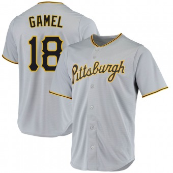 Youth Ben Gamel Pittsburgh Gray Game Road Replica Baseball Jersey (Unsigned No Brands/Logos)